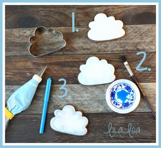 Learn how to make a decorated cloud sugar cookie in only 3 steps!