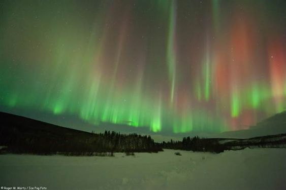 Astrophotographer Roger M. Marty snapped this shot of aurora borealis near Poker Flats, Alaska, on Jan. 22.