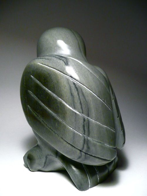 Soapstone sculptures inuit sculpture owl by josie iqaluk
