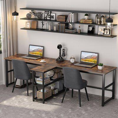 17 Stories Oberry Desk In 2021 Home Desk Home Office Furniture Home Office Desks