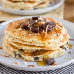 breaky food pancakes pancakes yummmm and more coconut chocolate ...