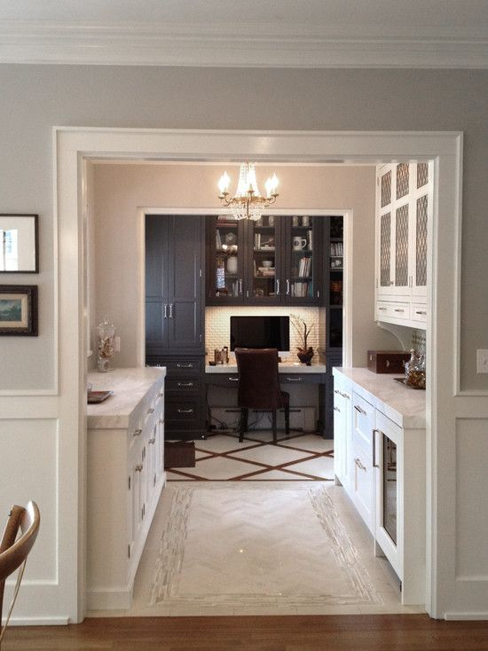Butlers pantry office design cic hc kitchen pinterest for Kitchen office nook
