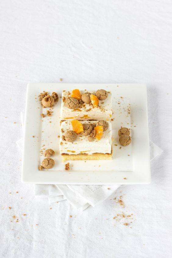 Clementinen Amarettini Sektschnitten