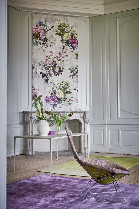 CS.  Amazing blend of colors and patterns.  Designers Guild Capisoli aubergine rug