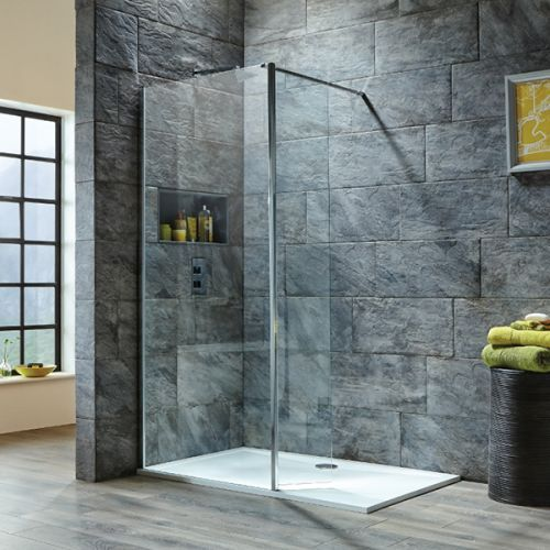 Walk In Shower With Flipper Panel.Shield Viii Easy Clean Wetroom Screens Hinged Panels