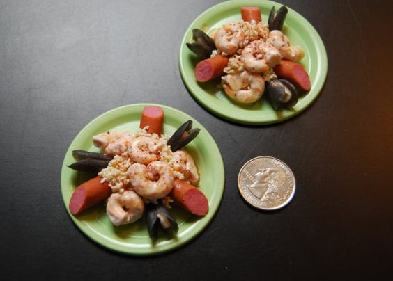 American Girl Doll Food. Jambalaya Dinner With by FauxRealFood