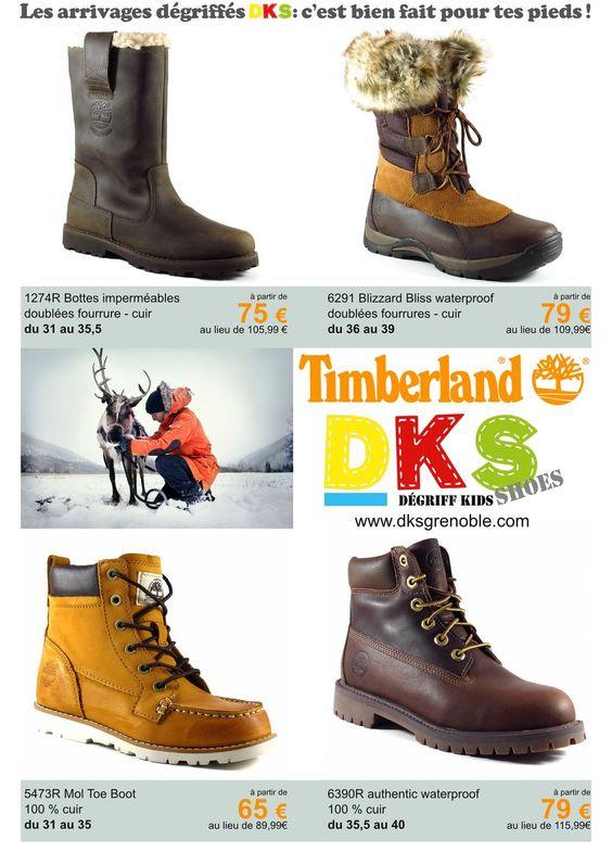 Arrivage Chaussures TIMBERLAND spécial neige et hiver Fille et garçon : du 31 au 42 - à prix dégriffés - 30%  DKS Dégriff Kids Shoes Chaussures dégriffées pour enfant à Grenoble