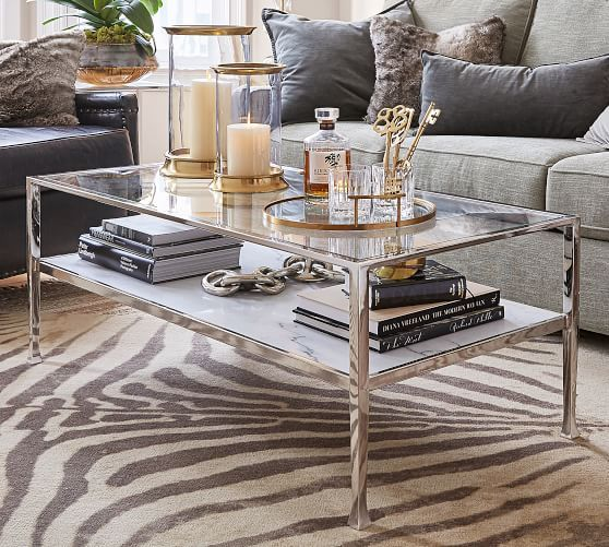 Tanner Marble Rectangular Coffee Table Glass Coffee Table Decor Modern Glass Coffee Table Rectangular Coffee Table