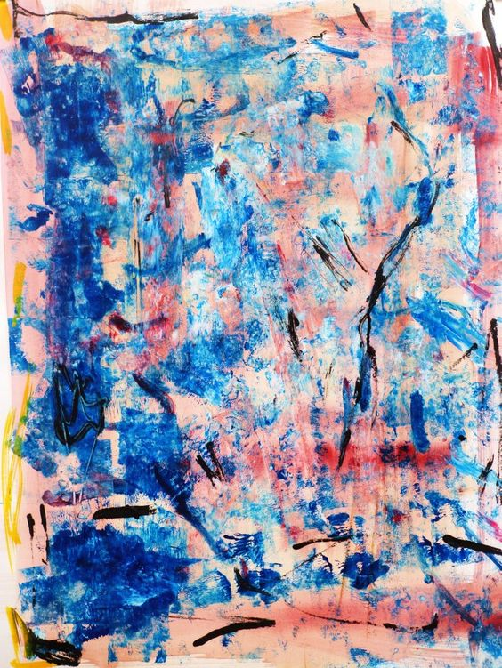 "Original #Painting ""blue colors"" #abstract #acrylic on paper #marinadewit"