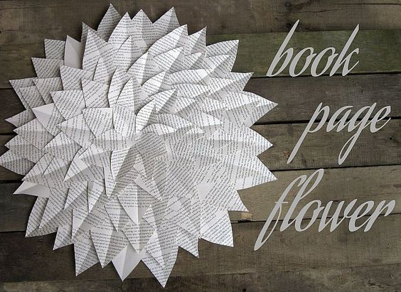 Book Page Flower Make this book page flower for pennies - but make a big impact in your space!#/988756/book-page-flower?&_suid=1361039105084032787199952575946