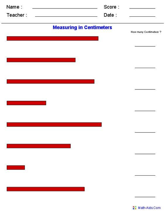 Measuring In Centimeters Worksheets School Work