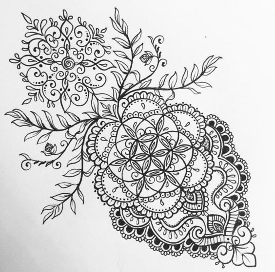olivia fayne tattoo design gallery zentangle pinterest mandalas blume und inspiration. Black Bedroom Furniture Sets. Home Design Ideas