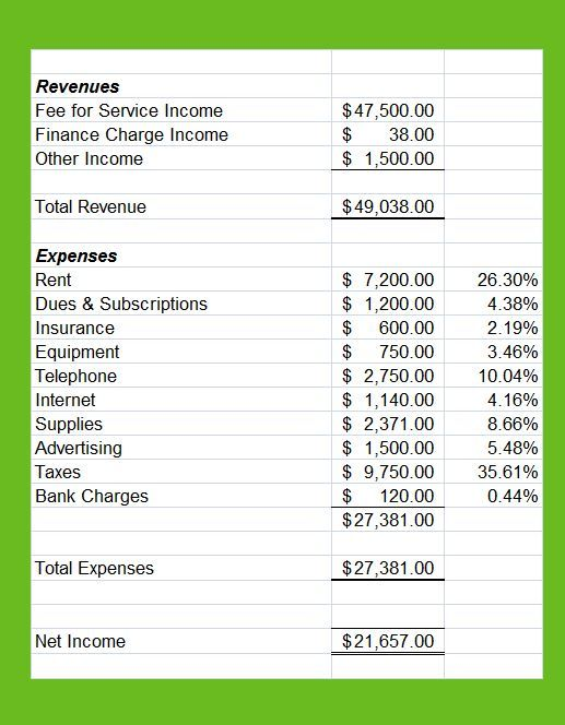Profit And Loss Statement For Private Practice With Images