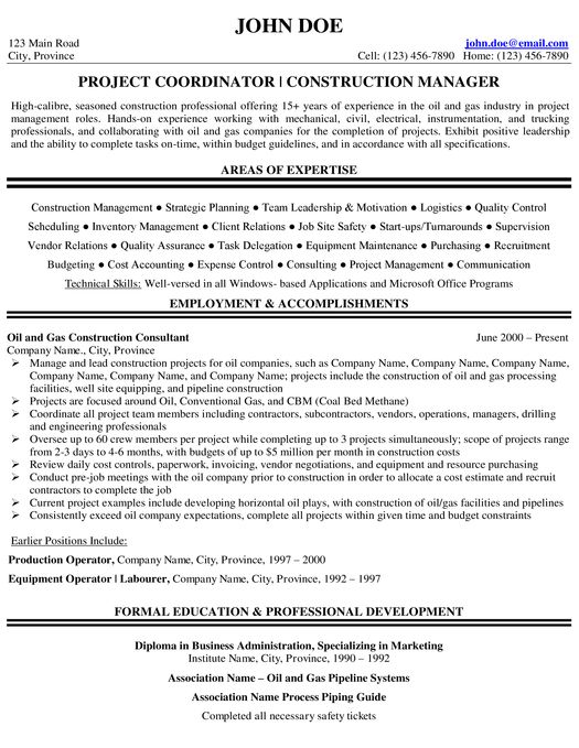 Welding Resume Sample  Expert Oil  Gas Resume Samples