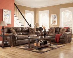 Frontier Canyon Microfiber Sofa Loveseat Set By Ashley Furniture Livi