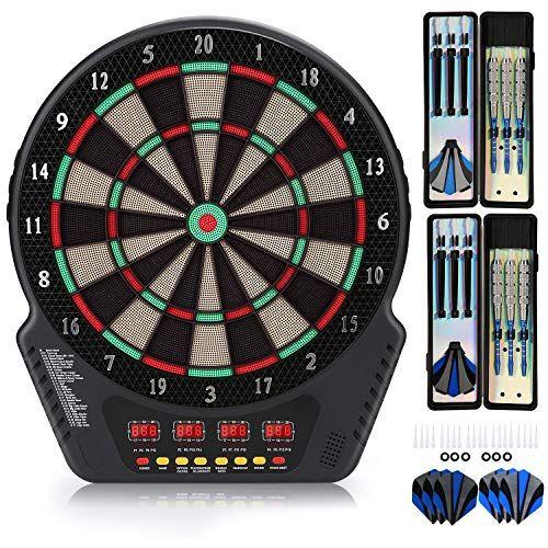 Biange Electronic Dart Board Dartboard Set 13 5 Target Area Digital Soft Tip Dartboards 27 Games And 243 Variants In 2020 Electronic Dart Board Dart Board Dartboards