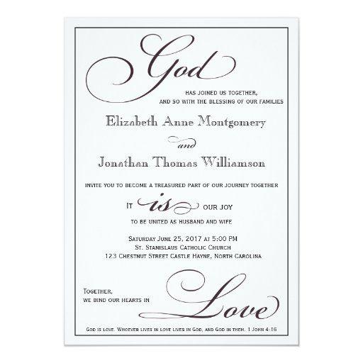 God Is Love Christian Script Wedding Invitation Zazzle Com In 2021 Christian Wedding Invitation Wording Script Wedding Invitations Christian Wedding Invitations