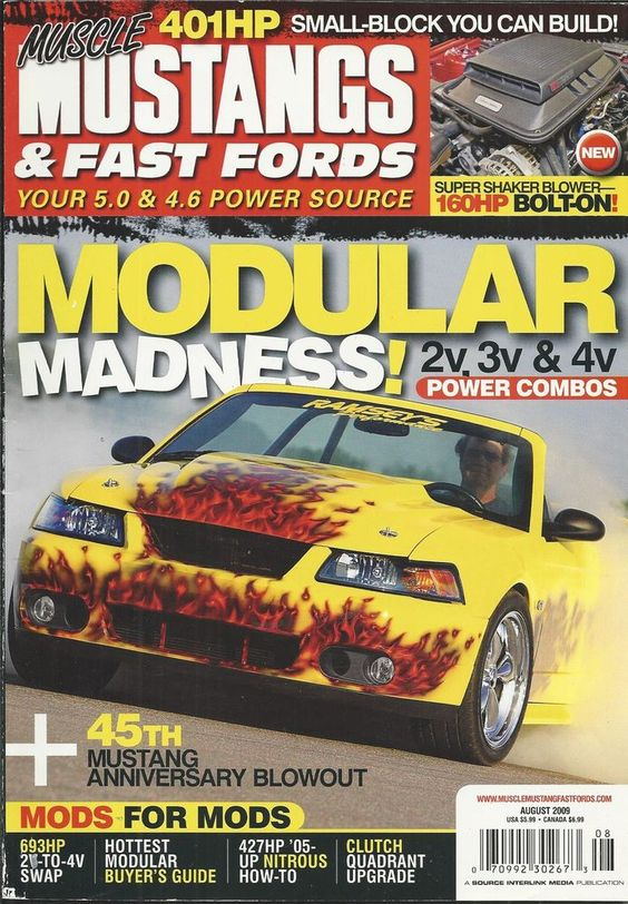 Muscle Mustangs and Fast Fords magazine Modular power combos Small block build