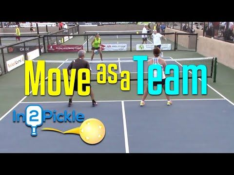 No 1 Pickleball Doubles Strategy Move As A Team In2pickle Youtube Pickleball How To Play Tennis Play Tennis