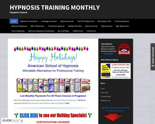 Hypnosis Training Monthly Payment Central In 2020 Hypnosis The American School Online Security