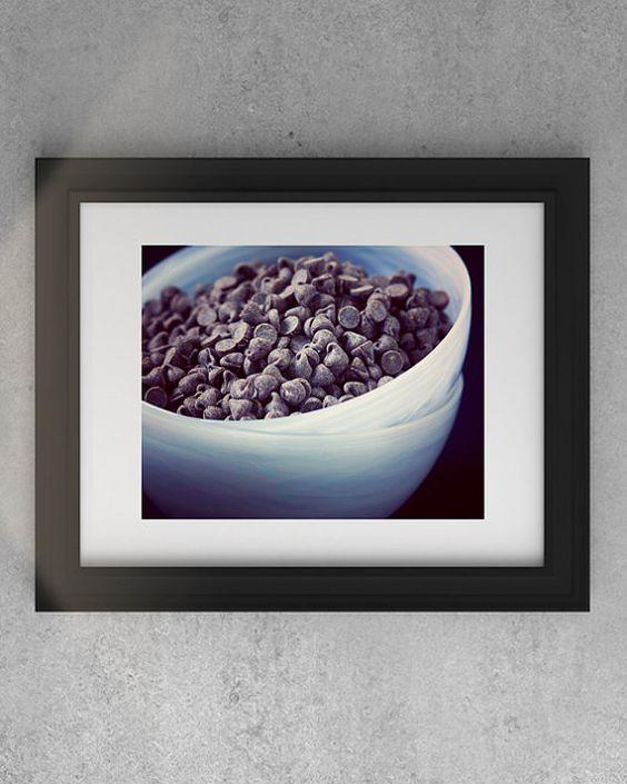 Vegan Chocolate Chips Photo Wall Art  Vegan by SusanGottbergPhotos