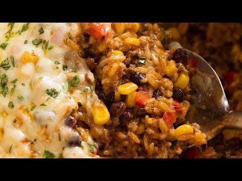 No More Boring Ground Beef Recipes This Mexican Ground Beef Casserole Is A Big Pot Of Cheesy Comfort With B Ground Beef Rice Ground Beef Casserole Ground Beef