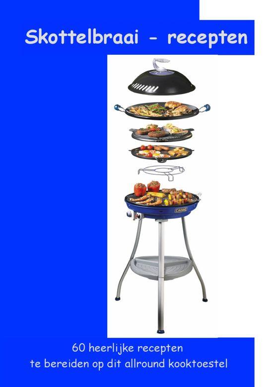 Koken op de camping - Skottelbraai-receptenboek  Skottelbraai-recepten is samengesteld om, op een ontspannen, manier te genieten van de skottelbraai met al zijn mogelijkheden. Na de aanschaf van de skottelbraai wil iedereen natuurlijk meteen van start. Dit boekje zorgt ervoor dat dit ook op een makkelijke manier kan.
