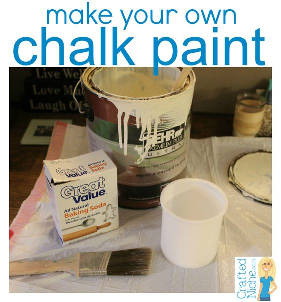 Make Your Own Chalk Paint With Latex Paint And Baking Soda