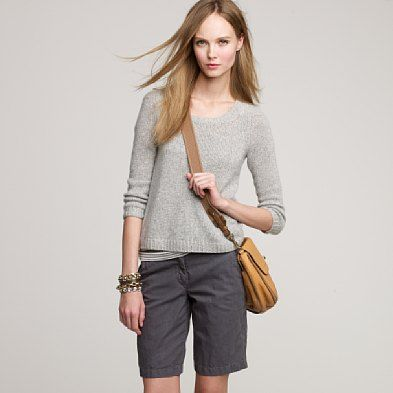 cute outfit- love the bermuda shorts (if you don't believe me, just look in my closet in the summertime!)