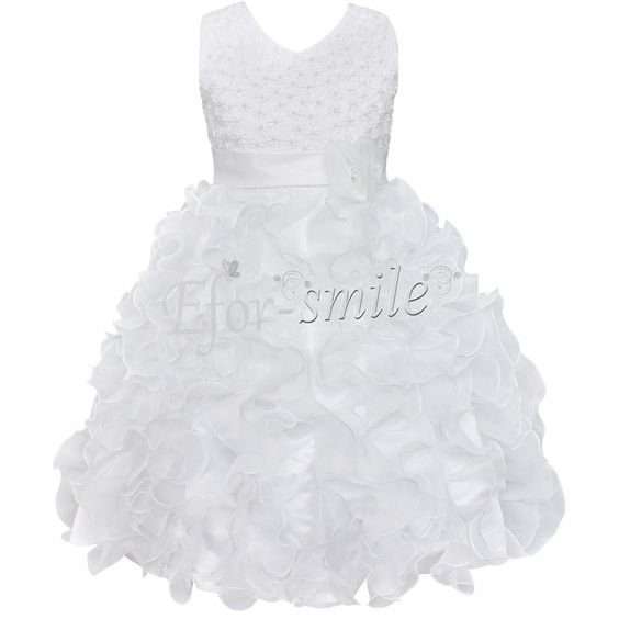Age 5 white dress 6 years