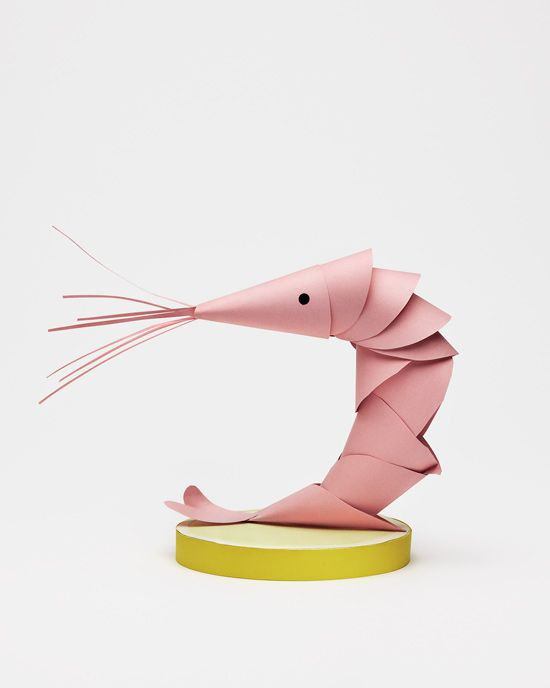 paper shrimp by Daniel Carlsten: