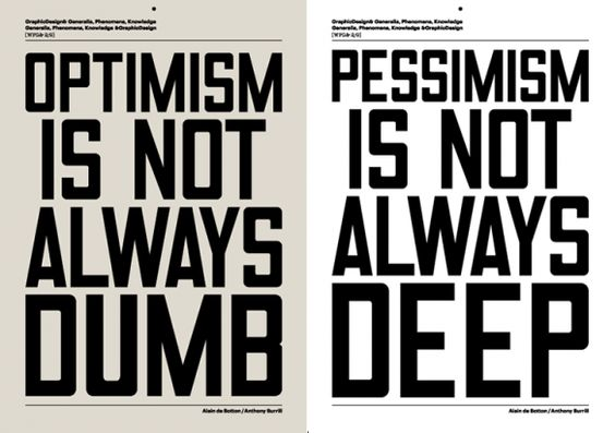 optimista vs. pessimista.