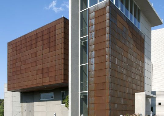 Exterior Metal Cladding Systems : Dri design weathered metal panels projects materials
