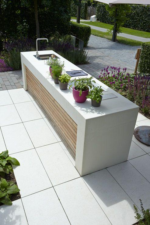 METTEN Outdoor-Küche: Outdoor-Küche Sichtbeton.
