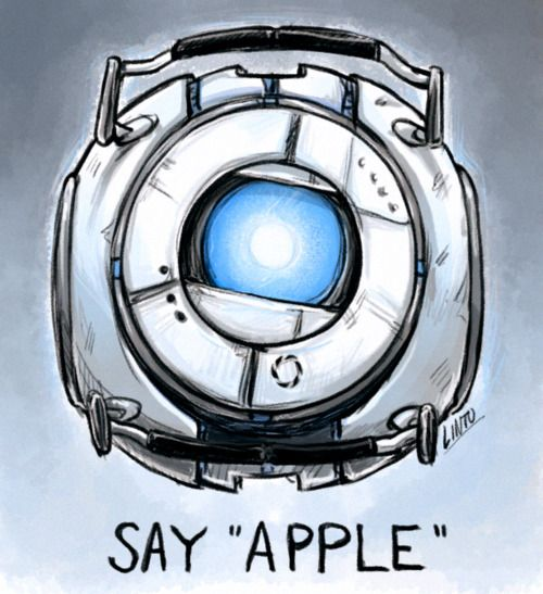 """""""Say apple. Well, what you did there was.. um, jumping. You just jumped. Okay, you know what? That's close enough. Just hold tight."""" -Wheatley"""