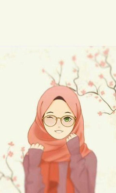 Wallpaper Hijab Kartun Cantik