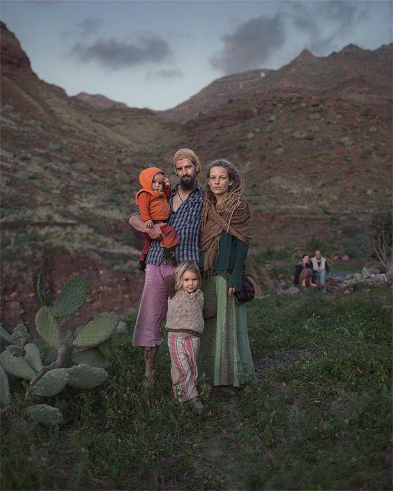 Hippie-Portraits auf Rainbow Gatherings von Benoit Paillé
