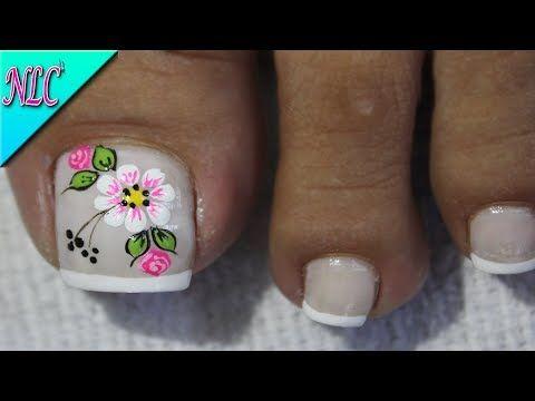 Diseño De Uñas Para Pies Flores Y Rosas Sencillas Flowers