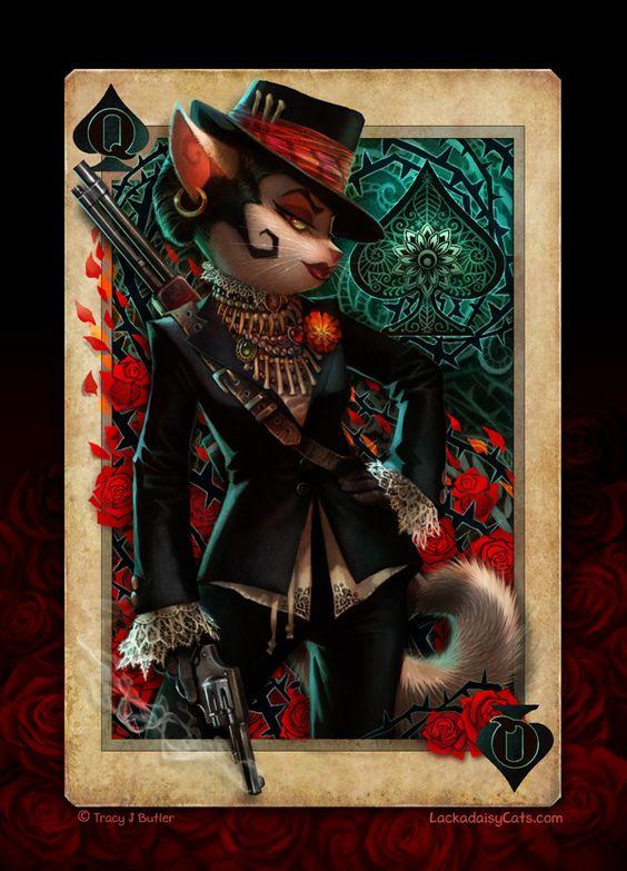 Lackadaisy Cats - Queen of Spades
