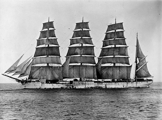 """""""She was the full rigged sailing ship, the Herzogin Cecilie"""".  And, yes, I know she was really a four master, but would it have sounded as good?"""