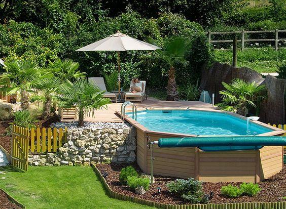 Landscaping Around Above Ground Pools   European Pools: Above ground pools, Semi-sunken and sunken pools ...