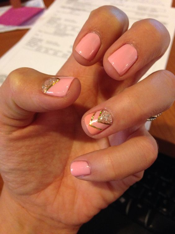 Pretty pink shellac design