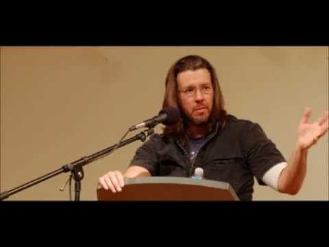 kenyon commencement speech by david foster wallace essay This is water there are these two young fish swimming along, and they happen  to meet an older fish swimming the other way, who nods at them and says,.