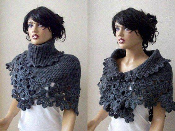 kneck, knitted