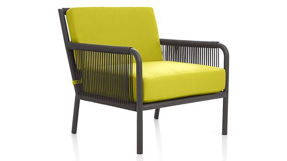 Morocco Lounge Chair with Sunbrella ® Cushion | Crate and Barrel