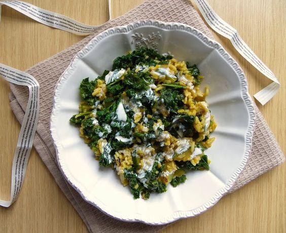 Rosenoisettes: Riz, chou kale et courgette sautés et épicés