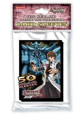 Konami Official YUGIOH Seto Kaiba and Obelisk The Tormentor 50 Count Card Sleeves *FREE SHIPPING*