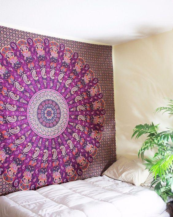 Rajasthani Ghoomar Mandala Twin Tapestry