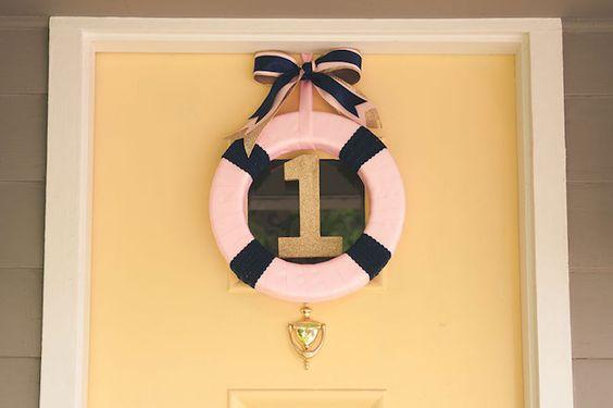 Pink Nautical Birthday Party via Kara's Party Ideas KarasPartyIdeas.com (28)