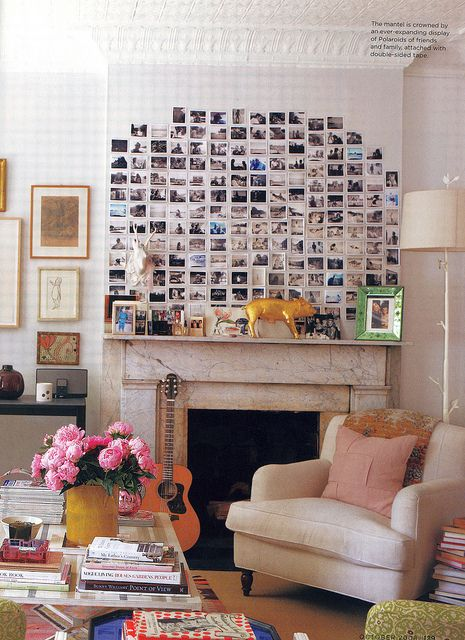 Instax Display.  Faux Mantle?
